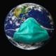 Erde mit Corona-Maske